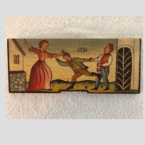 Vintage Slovenian Art Beehive Front Board Replica